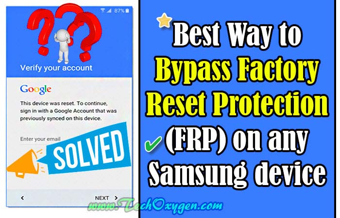 FRP Bypass Samsung Galaxy Using Free Working Method in 2018