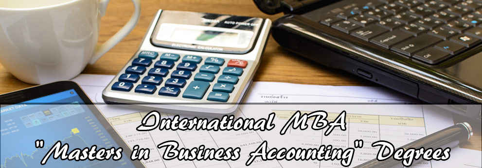 Online Accounting Degree for (MBA) Masters In Business Administration