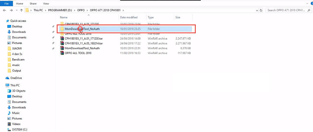 MSMDownloadTool_NoAuth Folder Extract with Password Fix